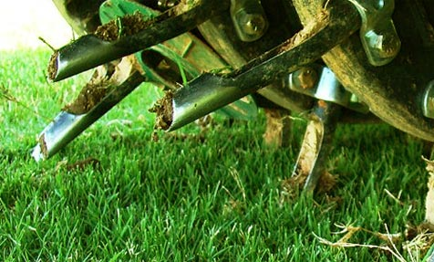 nj lawn aeration organic program